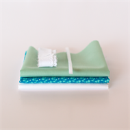 Picture of Set for extra doll dress - Vivid Blue - Pastel Green