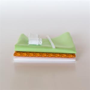 Picture of Setje voor extra poppenjurk - Oranje - Fris Pastel Groen