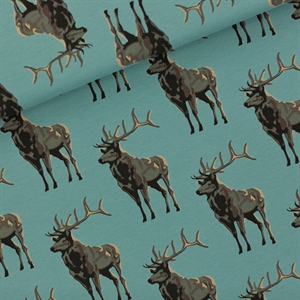 Picture of Deer - M - French Terry - Trellis Blue