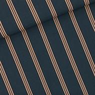Image de Three Lines Peach - M - Viscose Rayon - Bleu d'encre d'Inde