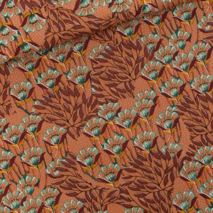 Picture of Gilly Flowers - M - Cotton Canvas Gabardine Twill - Zonnebrandbruin